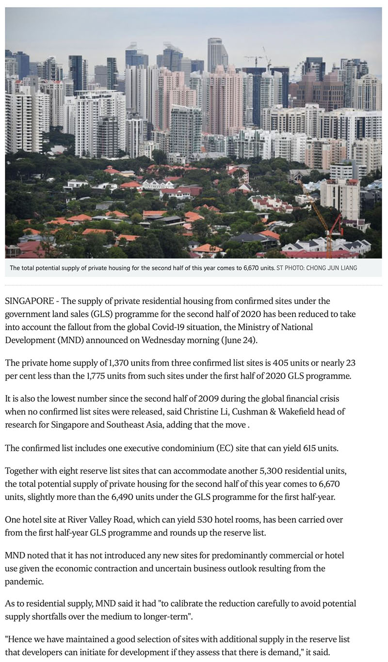 Park Nova - Govt cuts private housing supply from confirmed land sale sites due to Covid-19 fallout -1
