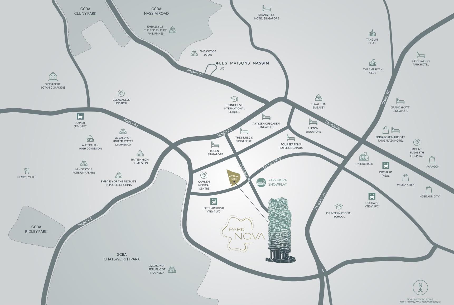 Park Nova Location Map Singapore